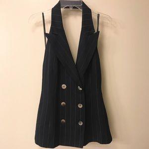 Jackets & Blazers - Vintage Halter Blazer Vest/Mini Dress